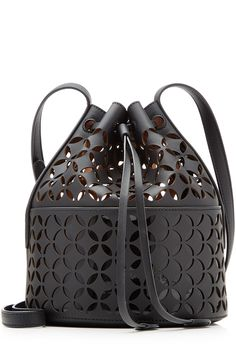 ALAÏA Perforated Leather Shoulder Bag. #alaïa #bags #shoulder bags #hand bags #leather #