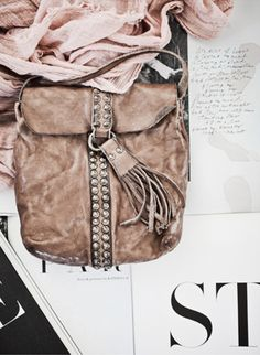 neutral tone rocker chic bag