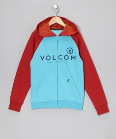 Take a look at this Blue Drift & Red Constant Change Zip-Up Hoodie - Boys by Volcom on #zulily today!