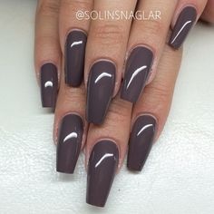 ☻Nail Polish Nails Nail art manicure grey