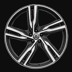 5 double spoke 22 x 9 Volvo #31414723 (color 968 Black matte), Offset 38.5mm, 16.4kg