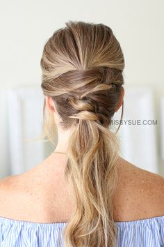 If the ponytail is your go-to hairstyle of choice then you'll love this triple wrapped ponytail. It might seem complicated but is so much easier than it looks. Ponytails never go out of style and this one is both quick and easy to do –…