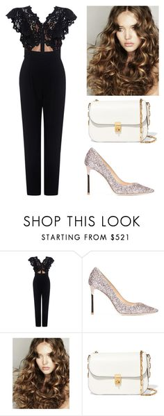 """Bored AF 224"" by lauren311-1 ❤ liked on Polyvore featuring Rebecca Taylor, Jimmy Choo and Valentino"