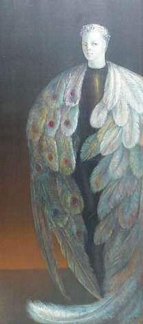 Léonor Fini, Rogomeulec (1978) Entertaining Angels, Female Artist, Heavenly, Surrealism, 2d, 1970s, Natural Beauty, Saints, Creatures