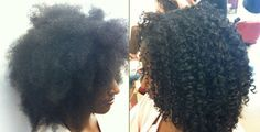Curly Girl Method Before And After - http://www.blackhairinformation.com/community/hairstyle-gallery/natural-hairstyles/curly-girl-method/ #naturalhairstyles