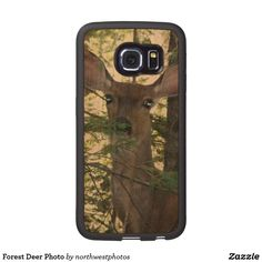 Forest Deer Photo Wood Samsung Galaxy S7 Edge Case