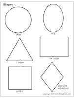 Free printable shapes and stencils to use for kids' crafts, math lessons and other learning activities. Free Shapes, Cut Out Shapes, Basic Shapes, Color Shapes, Simple Shapes, Printable Shapes, Templates Printable Free, Free Printable Coloring Pages, Free Printables