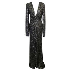 Oday Shakar Glamorous Hollywood Evening Gown | From a collection of rare vintage evening dresses at http://www.1stdibs.com/fashion/clothing/evening-dresses/