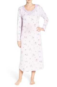 Main Image - Carole Hochman Print Cotton Nightgown