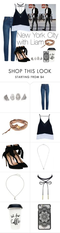 """New York City with Liam"" by cheyenne-stock ❤ liked on Polyvore featuring Alexander McQueen, Chan Luu, Gianvito Rossi and Topshop"