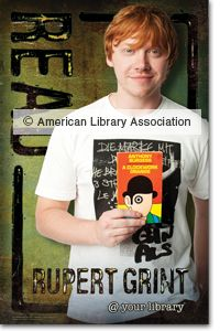 Rupert Grint READS!  Wtf why is this for the American Library Association? Shouldn't he be trying to literatureize people in his own country?