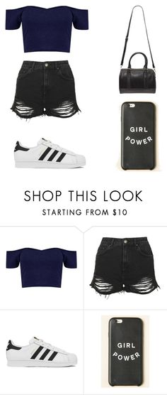 """""""Sin título #109"""" by karenrodriguez-iv on Polyvore featuring moda, Topshop, adidas, Forever 21, women's clothing, women, female, woman, misses y juniors"""