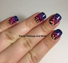 Fierce Makeup and Nails: Spring Gradient Leopard and Tutorial Video