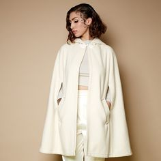 The Cream Caroline Cape... Perfection!  Get yours now from www.tarastarlet.com and make like a winter wonderland glamour puss! ❄️❄️