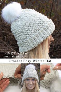 Crochet Adult Hat, Bonnet Crochet, Easy Crochet Hat, Crochet Winter Hats, Crochet Hat For Women, Crochet Beanie Pattern, Crochet Cap, Crochet Scarves, Crochet Patterns