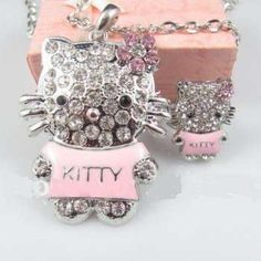 "hello kitty face size about : 1.3"" x 2.0""  Necklace length about:26inches"
