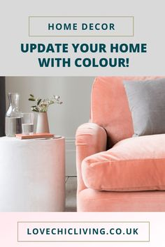 Colourful home decor ideas for a bright, modern, bohemian home. Whether you want a pop of colour, some neutrals, pastels or vibrant shades, these designs will help you create a vintage, cozy space.  #lovechicliving #colourfulhome #homedecor Room Color Schemes, Room Colors, House Colors, Living Room Inspiration, Home Decor Inspiration, Decor Ideas, Color Pop, Colour, Luxury Sofa