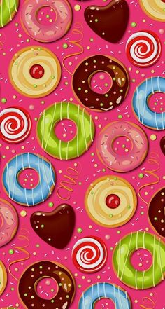 Find images and videos about sweet, wallpaper and donuts on We Heart It - the app to get lost in what you love. Cute Backgrounds, Cute Wallpapers, Wallpaper Backgrounds, Iphone Wallpapers, Wallpaper For Your Phone, Cellphone Wallpaper, Kawaii Wallpaper, Colorful Wallpaper, Cupcakes Wallpaper