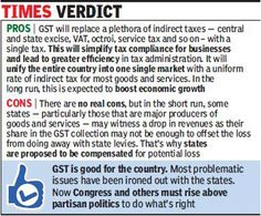 #GST #india #tax #taxation #VAT #excise #servicetax #indirecttax #economy #business #finance #law #corporate #market #goods #services #sale #purchase #consumer # state #centre #government #revenue #commerce #constitution #bill #taxcredit #cgst #sgst #igst