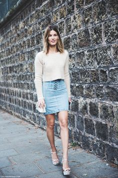 Paris_Fashion_Week_Spring_Summer_15-PFW-Street_Style-Hanneli_Mustaparta-Denim_Skirt-Angora_jumper-