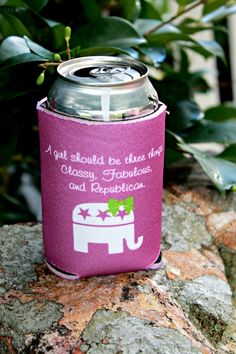 Use Promo Code PoliticalPearls for 10% off :) Future First Lady - Classy, Fabulous and Republican Koozie, $5.99 (http://www.futurefirstlady.net/classy-fabulous-and-republican-koozie/)