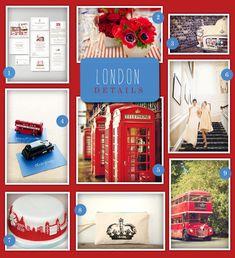 Theme Thursday: A London Inspired Wedding