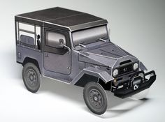 ICON FJ40 paper model | by papercruisers.com