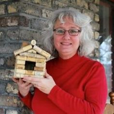 My friend is so very proud of her bird house she made with recycled wine corks!