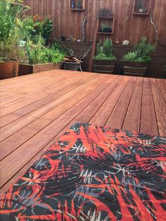 Freshly decked outdoor room and a nice outdoor cushion by kbfdesign.com.au