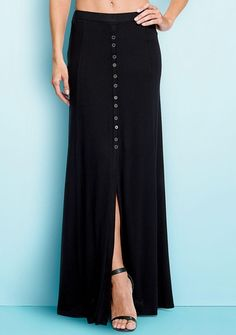 Taylor Button-Front Maxi Skirt from Alloy on Catalog Spree