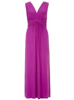 Pink knot front maxi dress  by Dorothy Perkins