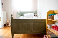 Paint Tales - Country style kids bed painted in custom mix Miss Mustard Seed milk paint Decor, Room, Toddler Bed, Refurbished Furniture, Painted Furniture, Country Kids, Kid Beds, Bed, Furniture Makeover
