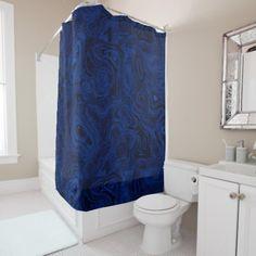 Blood Blue Fire Stone 1 SDL SC Shower Curtain