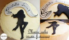 Music Cake (chocolate and cheesecream)