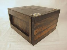 handcrafted box crate with open lid by BrooklynCovo on Etsy, $89.00