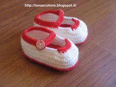Lana e Cotone (maglia e uncinetto): Ballerine all'uncinetto