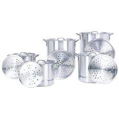 Concord 5 Pc Aluminum Stock Pot Set 20/24/32/40/52 Qt Brew