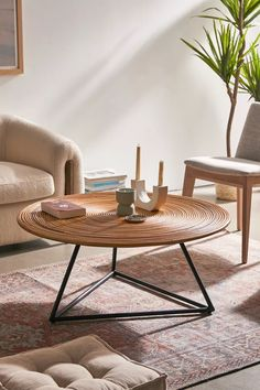 Decorating Coffee Tables, Coffee Table Design, Coffee Table Decorations, Coffee Table Urban Outfitters, Urban Outfitters Furniture, Rattan Coffee Table, Round Coffee Tables, Leather Coffee Table, Coffee Desk