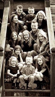 The Willis Clan Parents Toby and Brenda with Jessica (21), Jeremiah (20), Jennifer (19), Jeanette (17), Jackson (15), Jedi (14), Jasmine (12), Juliette (10), Jamie (9), Joy Anna (7), Jaeger (4), and Jada (3).May 2014