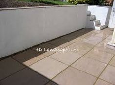 Image result for patio with walls and steps