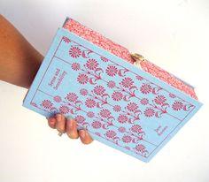 Book Clutch Purse- Sense and Sensibility- Jane Austen. $155.00, via Etsy.