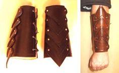 Leather vambrace.