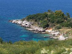 Kassiopi coastline - Corfu #Greece Corfu Greece, Greek Language, Greeks, Our World, Greek Islands, Athens, Geography, Beautiful Places, Bucket