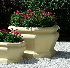 The medium Octagonal Jardiniere features bold ogee moldings, these new jardinieres complement the existing Large Octagonal Jardiniere. Please note: will req Garden Ornaments For Sale, Contemporary Planters, New England, Planter Pots, Moldings, Medium, Plants, Container, Note