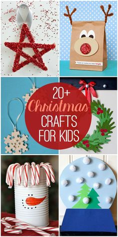 20+ Christmas Crafts for Kids - so many cute and fun craft ideas!!