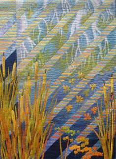 Stroll along the Levee by Gloria Loughman contemporary quilter, teacher and author