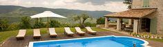 View of the pool at Casa Bella, Luxury Villa to Rent in Istria, Croatia.
