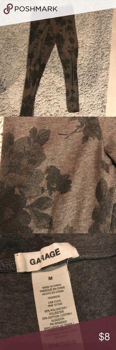 Selling this Black and gray flower leggings on Poshmark! My username is: stephh_ceee. #shopmycloset #poshmark #fashion #shopping #style #forsale #Garage #Pants