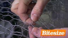 Sculpture - using chicken wire to make an armature