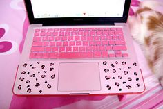 Beautiful laptop case for the girly girl #pink #girlie #leopard